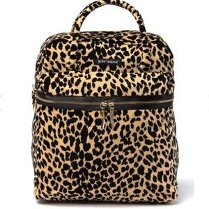 Betsey Johnson leopard print too handle backpack